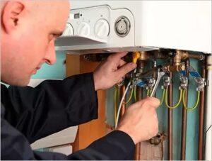 repairing old boiler